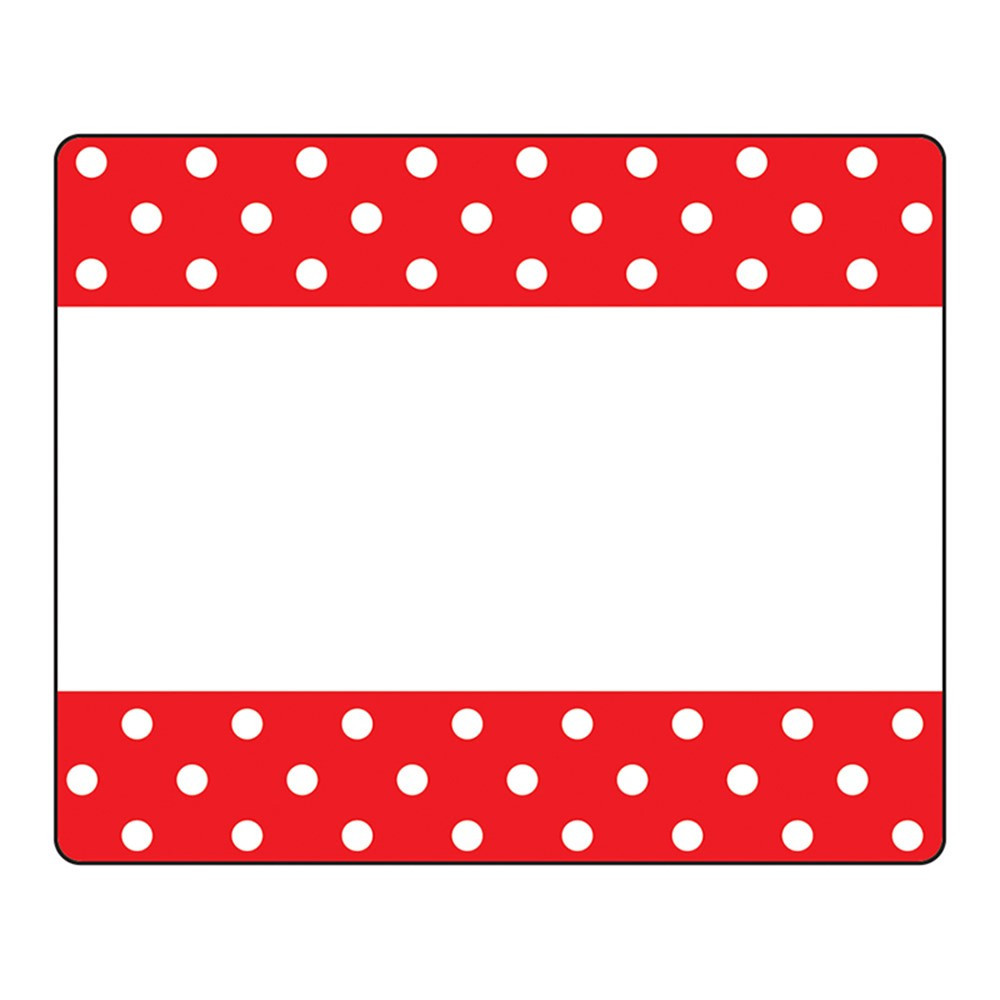 T-68043 - Polka Dots Red Terrific Labels in Name Tags