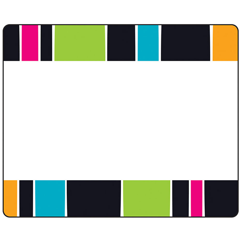 T-68045 - Stripe-Tacular Groovy Terrific Labels in Name Tags
