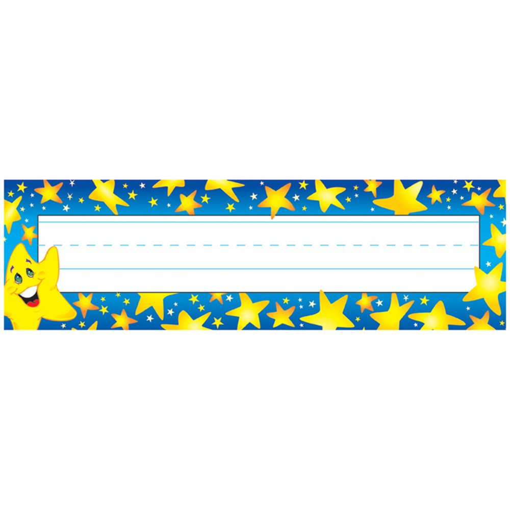 T-69003 - Desk Toppers Super Stars 36/Pk 2X9 in Name Plates