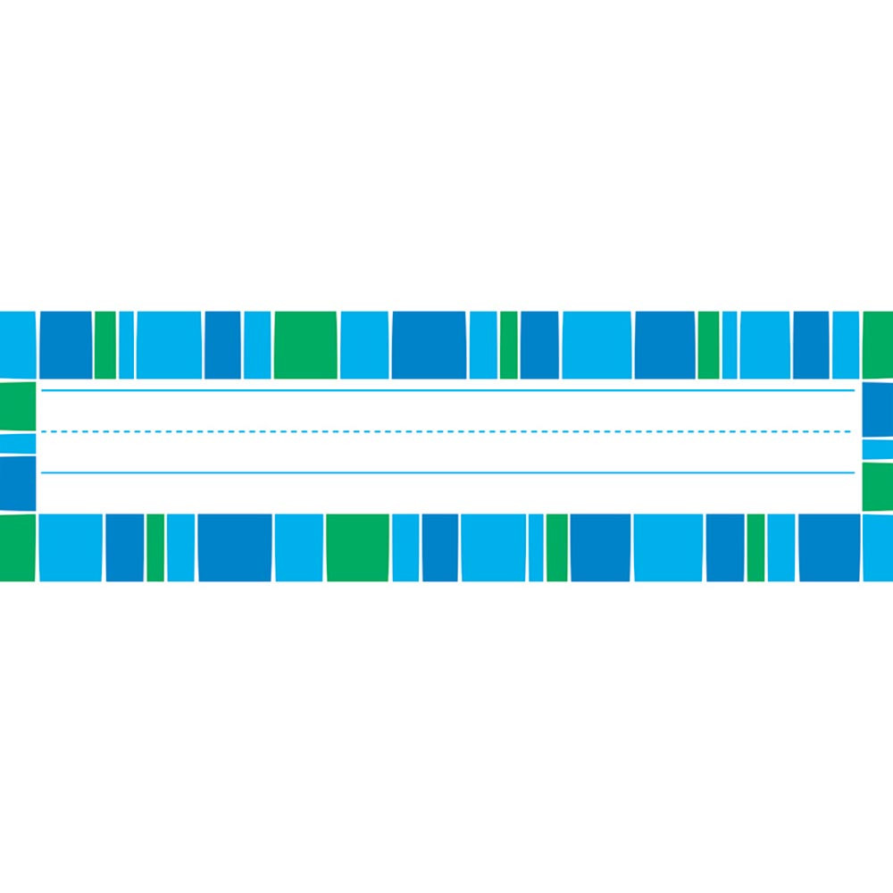 Stripe Tacular Cool Blue Desk Toppers Name Plates T