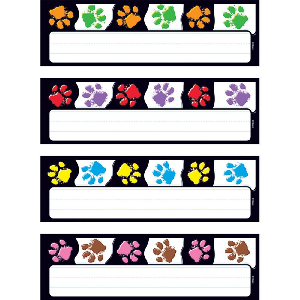 T-69907 - Paw Prints Desk Toppers Name Plates Variety Pk in Name Plates