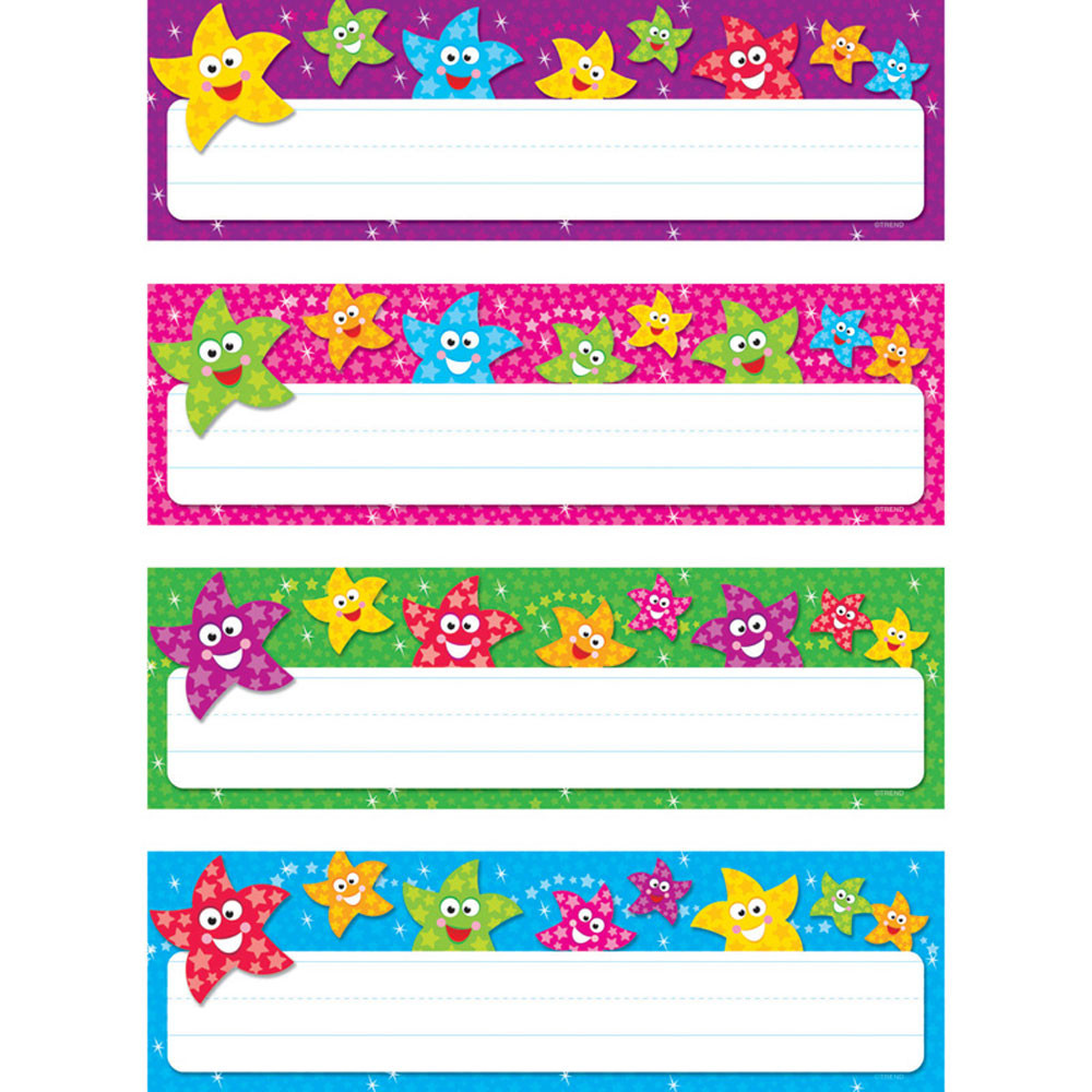 T-69909 - Dancing Stars Desk Toppers Name Plates Variety Pk in Name Plates