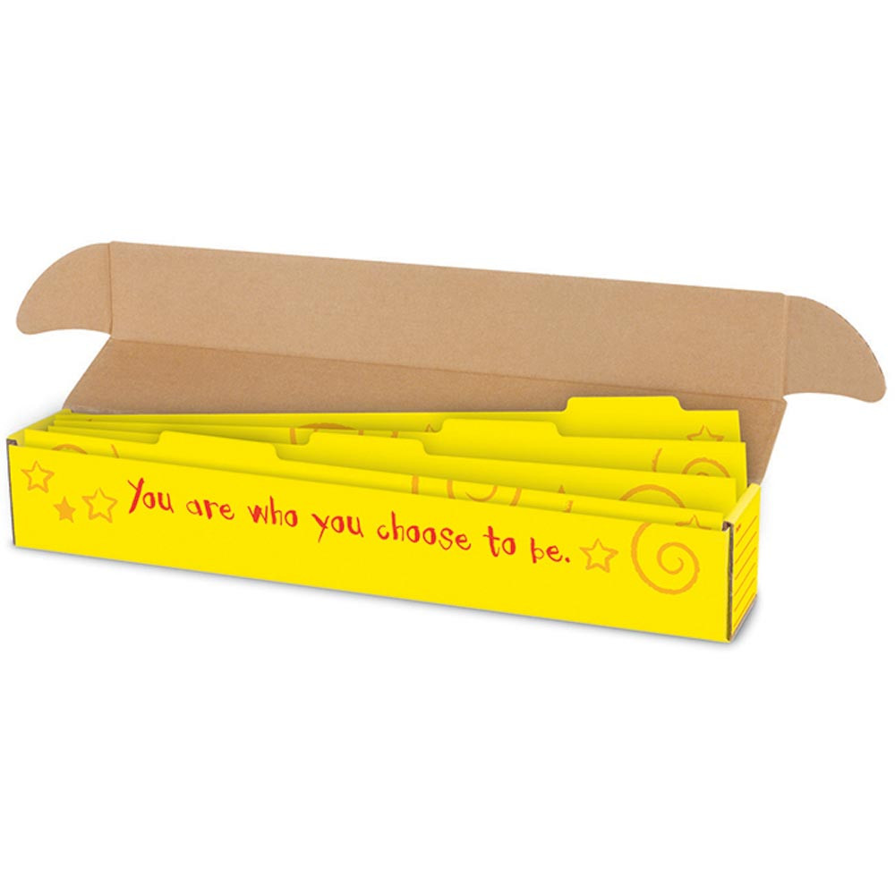 T-7007 - Sentence Strip Storage Box With Dividers 3 X 3 X 26 in Storage