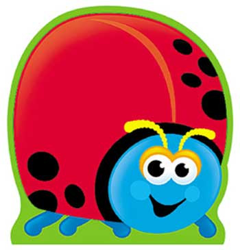 T-72003 - Note Pad Ladybug 50 Sht 5 X 5 Acid Free in Note Pads