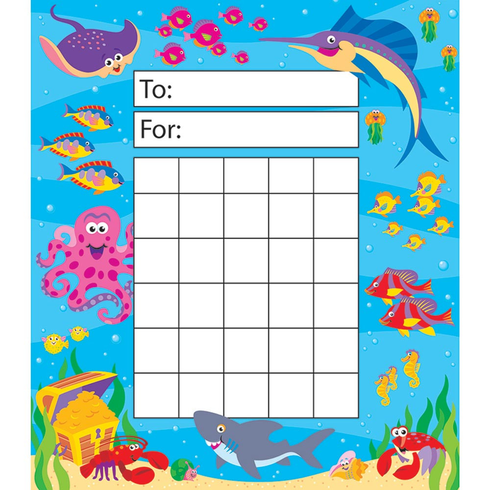 T-73002 - Incentive Pad Under The Sea in Postcards & Pads