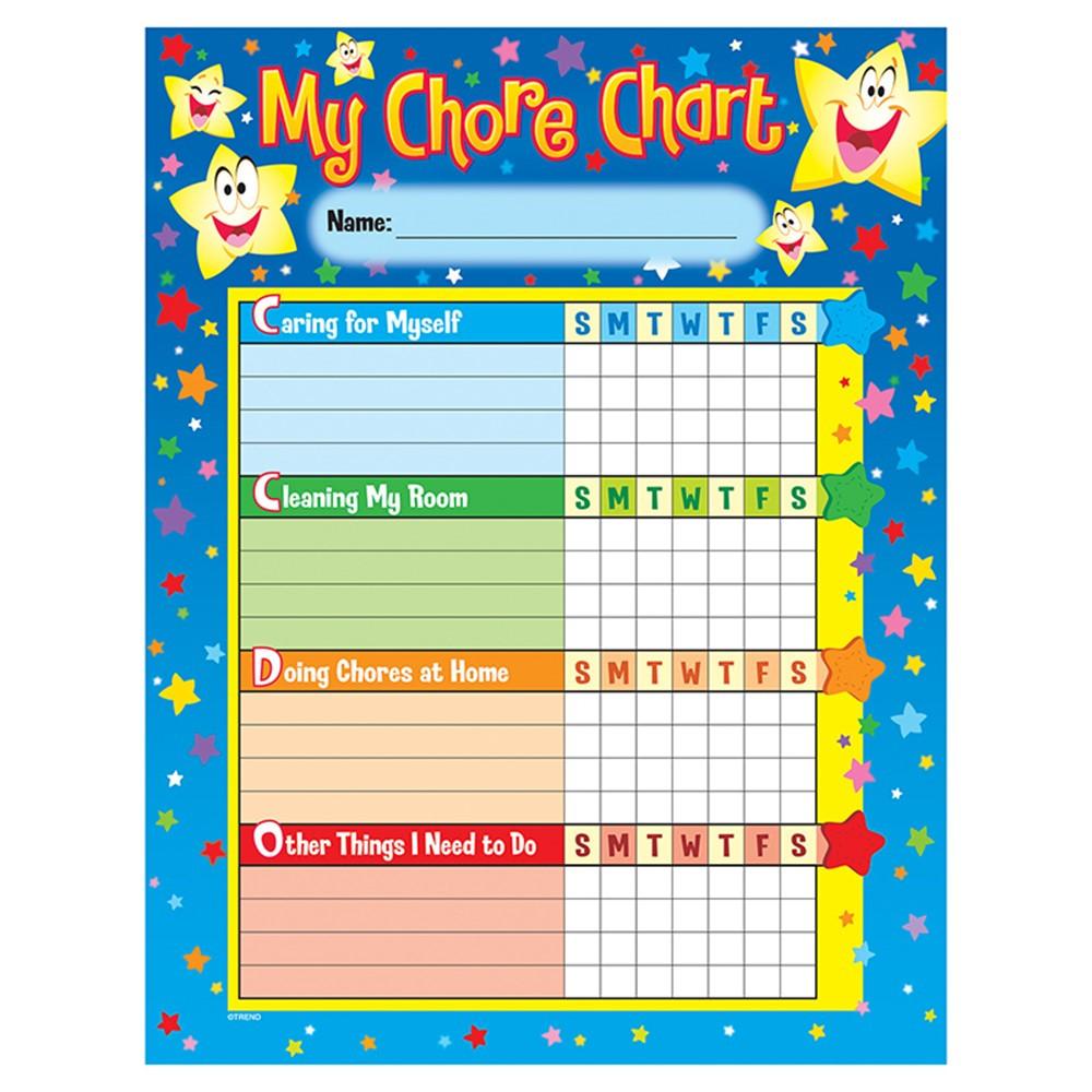 T-73106 - Chore Charts Stars 25 Charts 8-1/2 X 11 in Incentive Charts