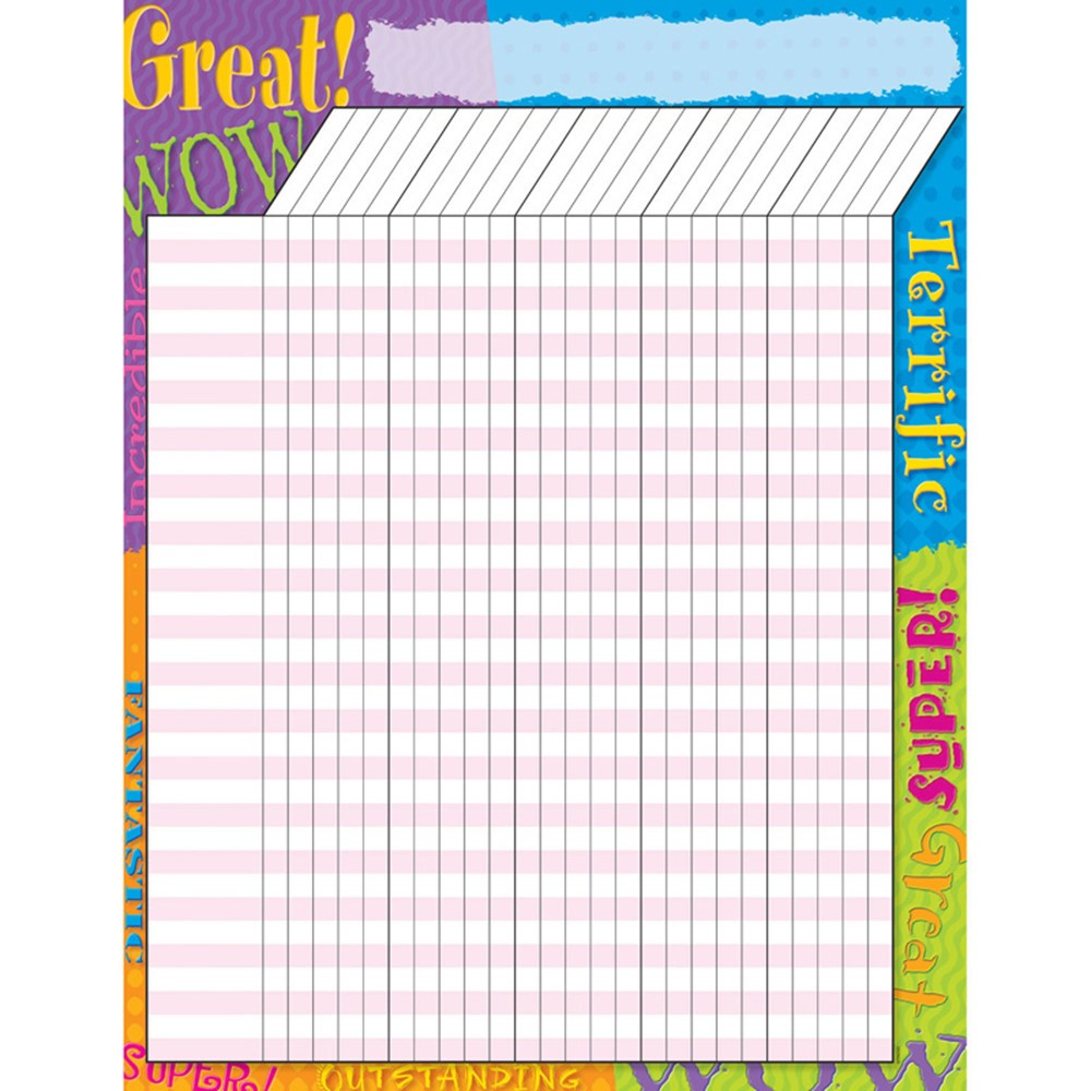 T-73306 - Incentive Chart Praise Words in Incentive Charts