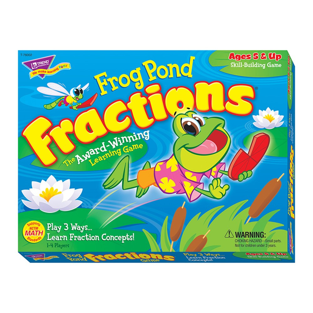 T-76002 - Frog Pond Fractions Game Ages 5 & Up in Math