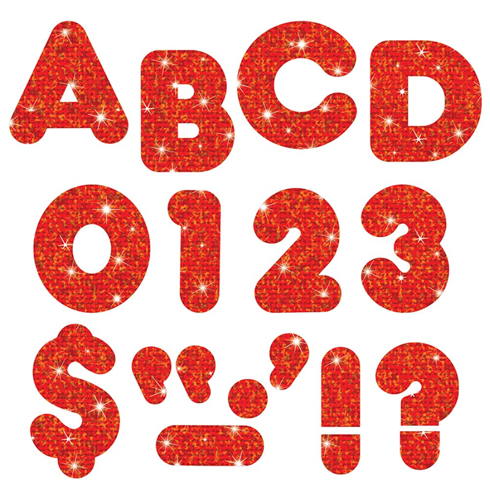 T-79008 - Ready Letters 3 Casual Red Sparkle Casual in Letters
