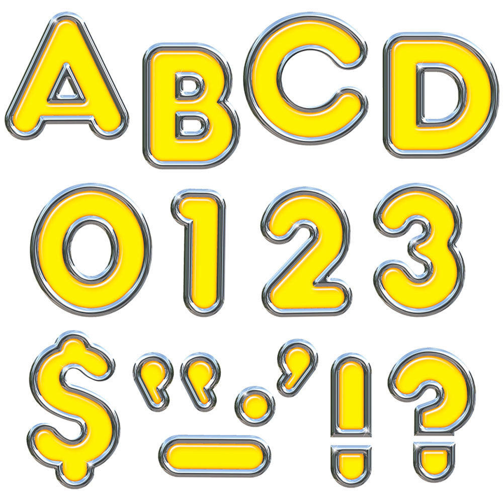 T-79052 - Yellow 4In Colorful Chrome Ready Letters in Letters