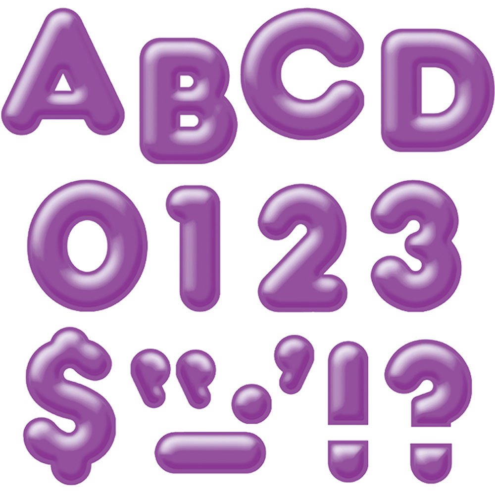 T-79406 - Ready Letters 2Inch 3-D Purple in Letters