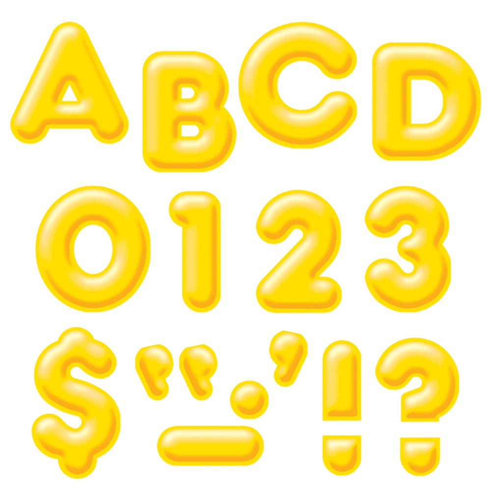 T-79503 - Ready Letters 4Inch 3-D Yellow in Letters
