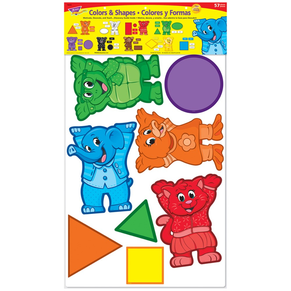 T-8010 - Bulletin Board Set Colors & Shapes in Language Arts
