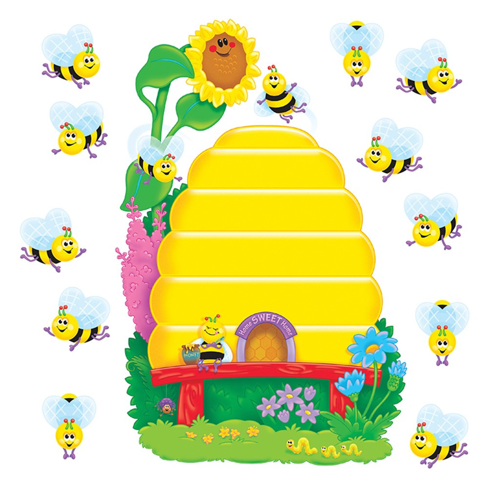 T-8077 - Bulletin Board Set Busy Bees Job Chart Plus in Motivational