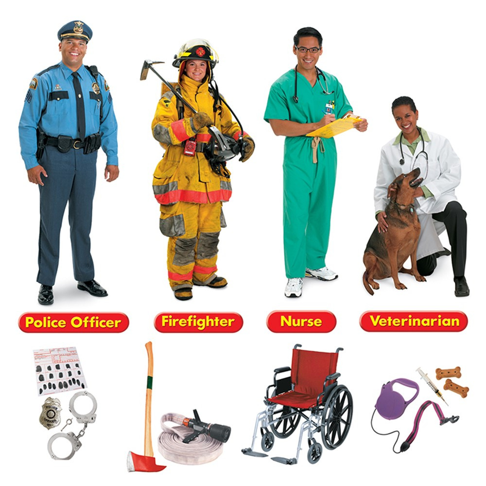 T-8143 - Community Helpers Bulletin Board Set 45 Pcs in Social Studies