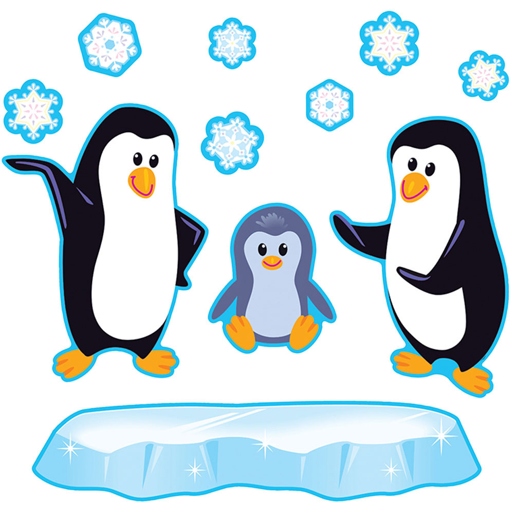 T-8202 - Playful Penguins Bulletin Board Set in Classroom Theme