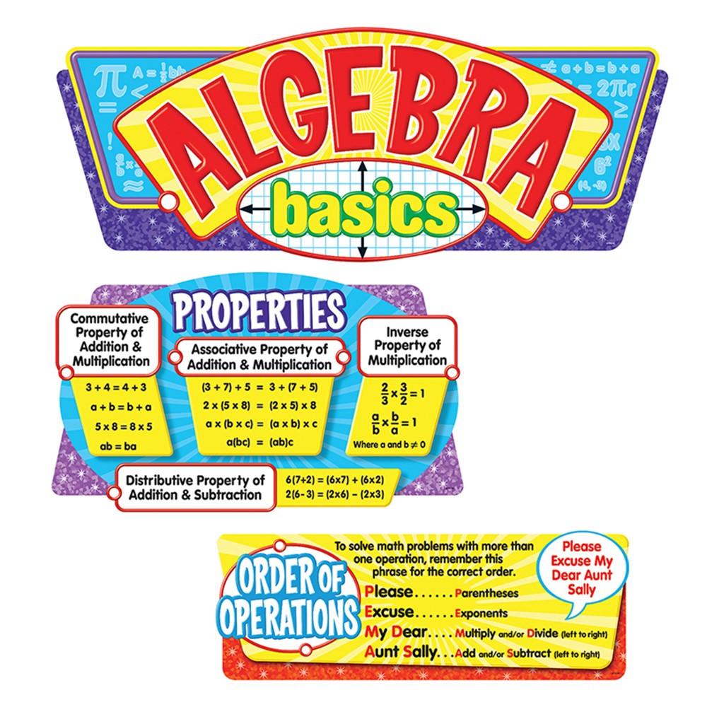 T-8256 - Algebra Basics Bulletin Board Set in Math
