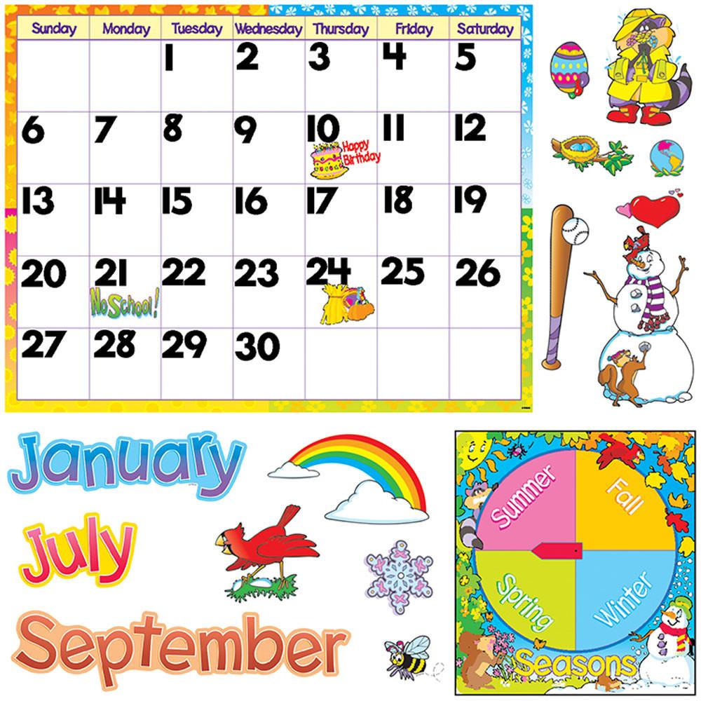 T-8302 - Bulletin Board Set Monthly Calendar Cling Pcs in Calendars