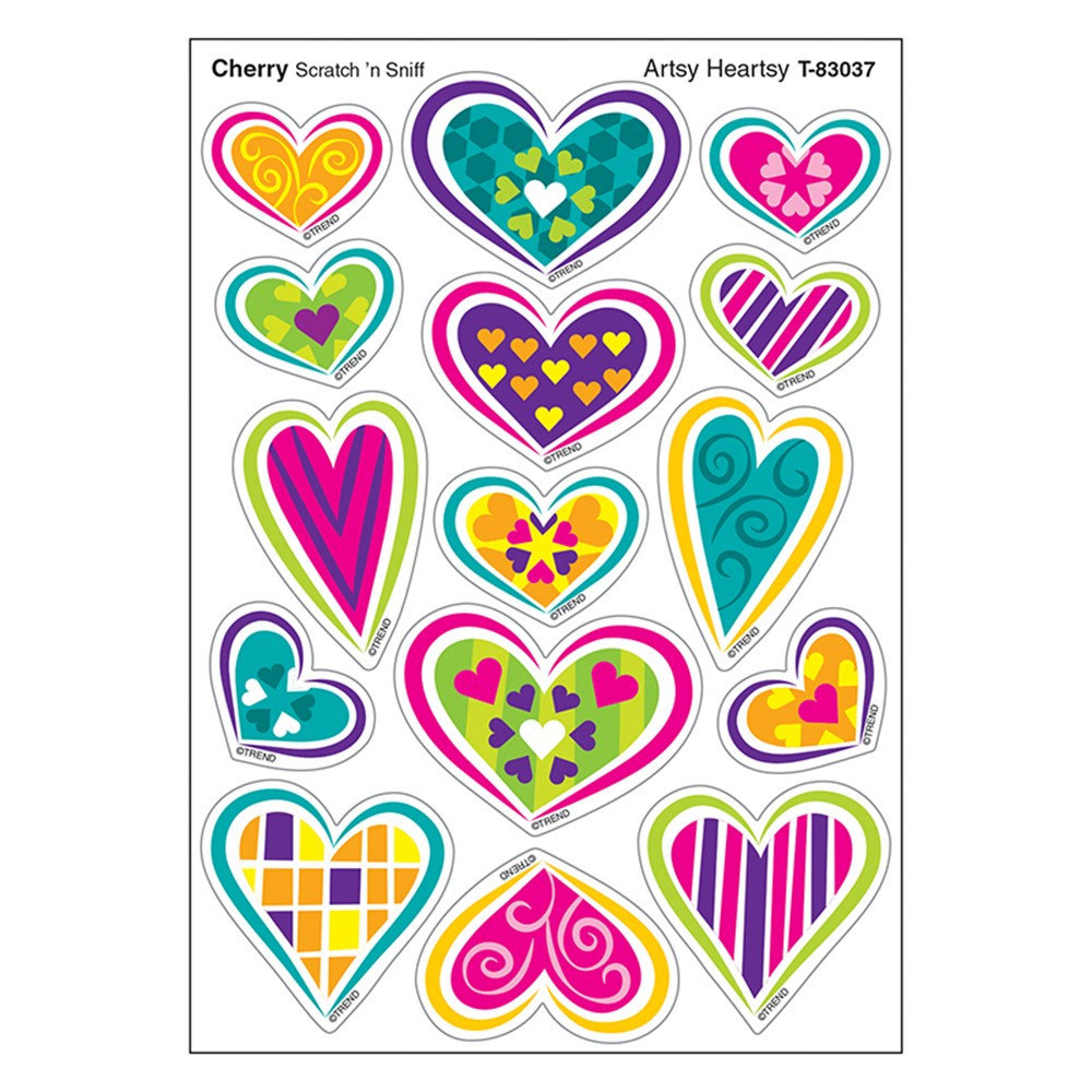 T-83037 - Artsy Heartsy/Cherry Shapes Stinky Stickers in Stickers