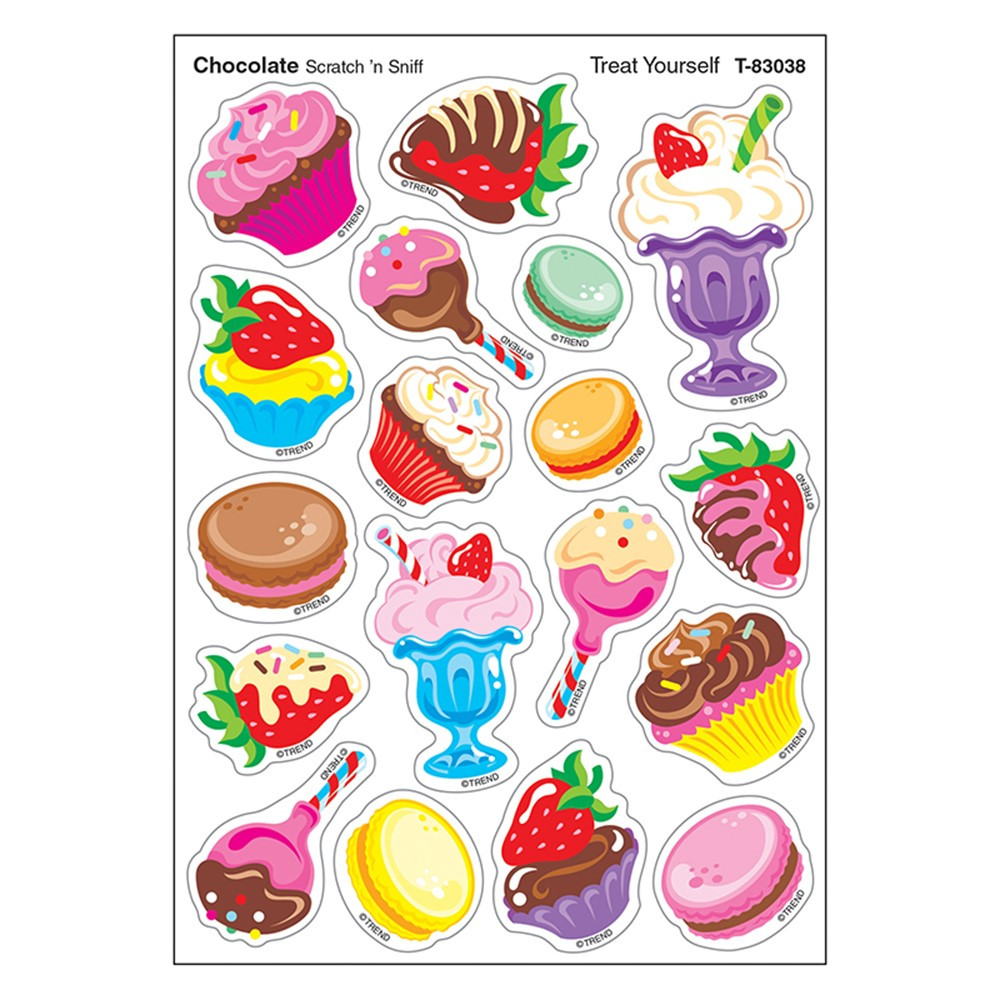 T-83038 - Treat Yourself/Choc Shapes Stinky Stickers in Stickers