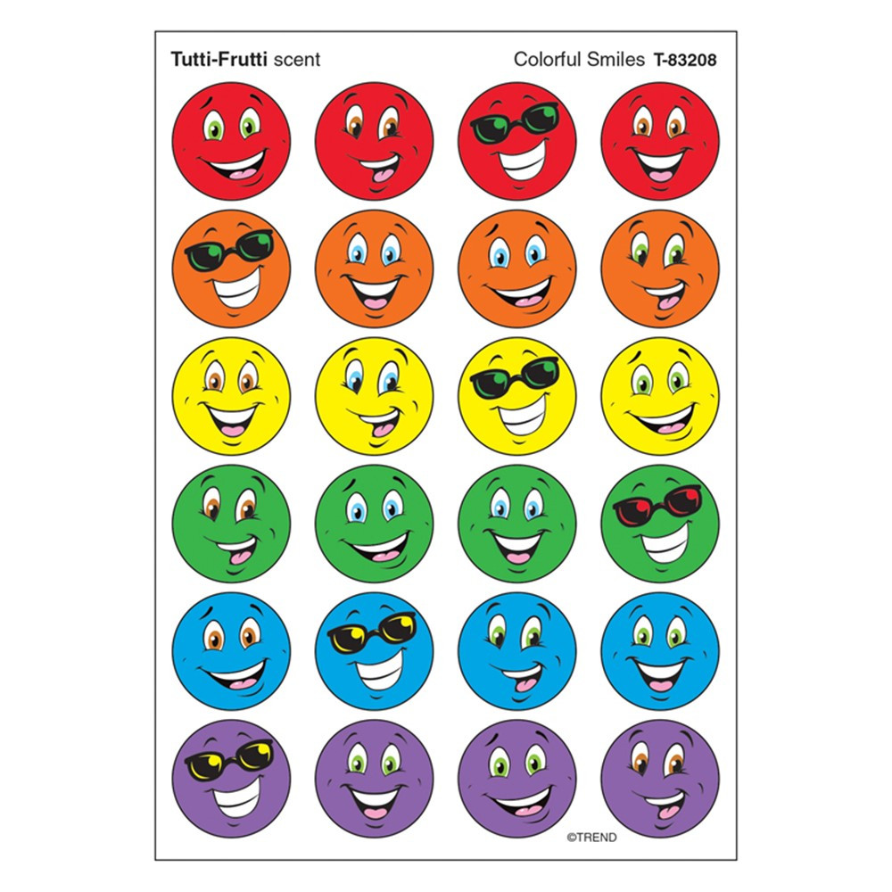 T-83208 - Stinky Stickers Colorful Smiles in Stickers