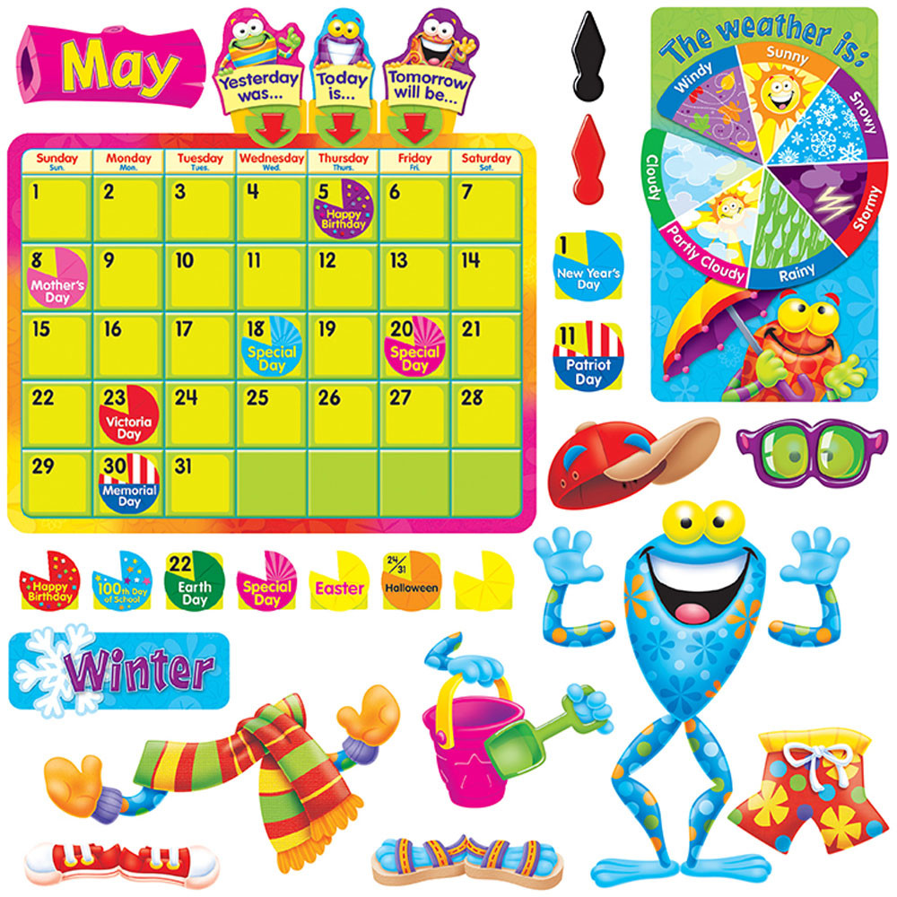 T-8331 - Frog-Tastic Calendar Bulletin Board Set in Calendars
