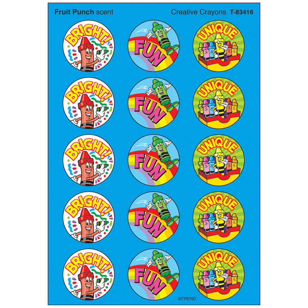 T-83416 - Stinky Stickers Creative Crayons in Stickers