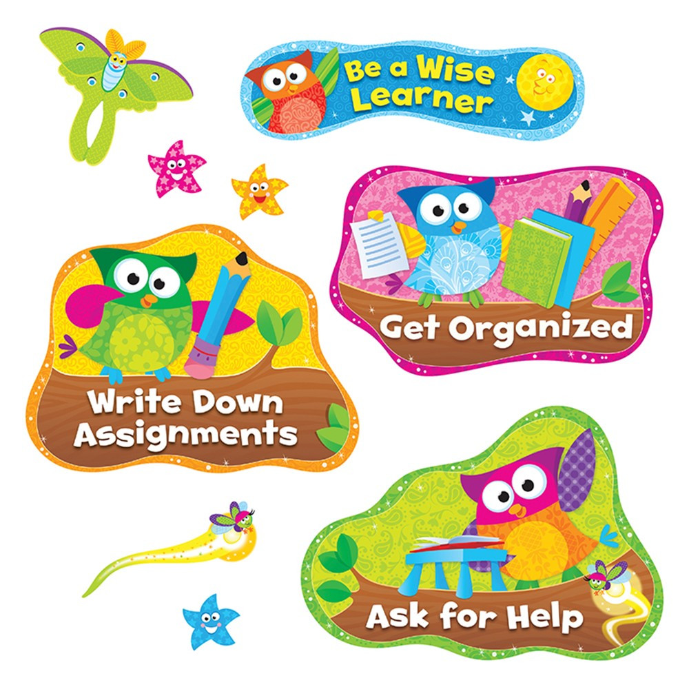 Classroom Decor Sets ~ Owl stars study habits bulletin board set t