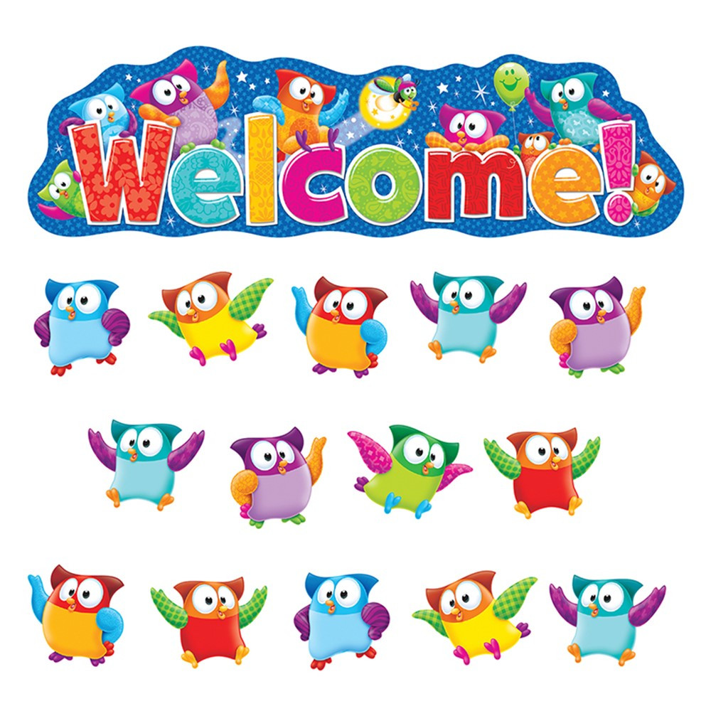 Classroom Decorations Bulletin Board Set ~ Owl stars welcome bulletin board set t trend