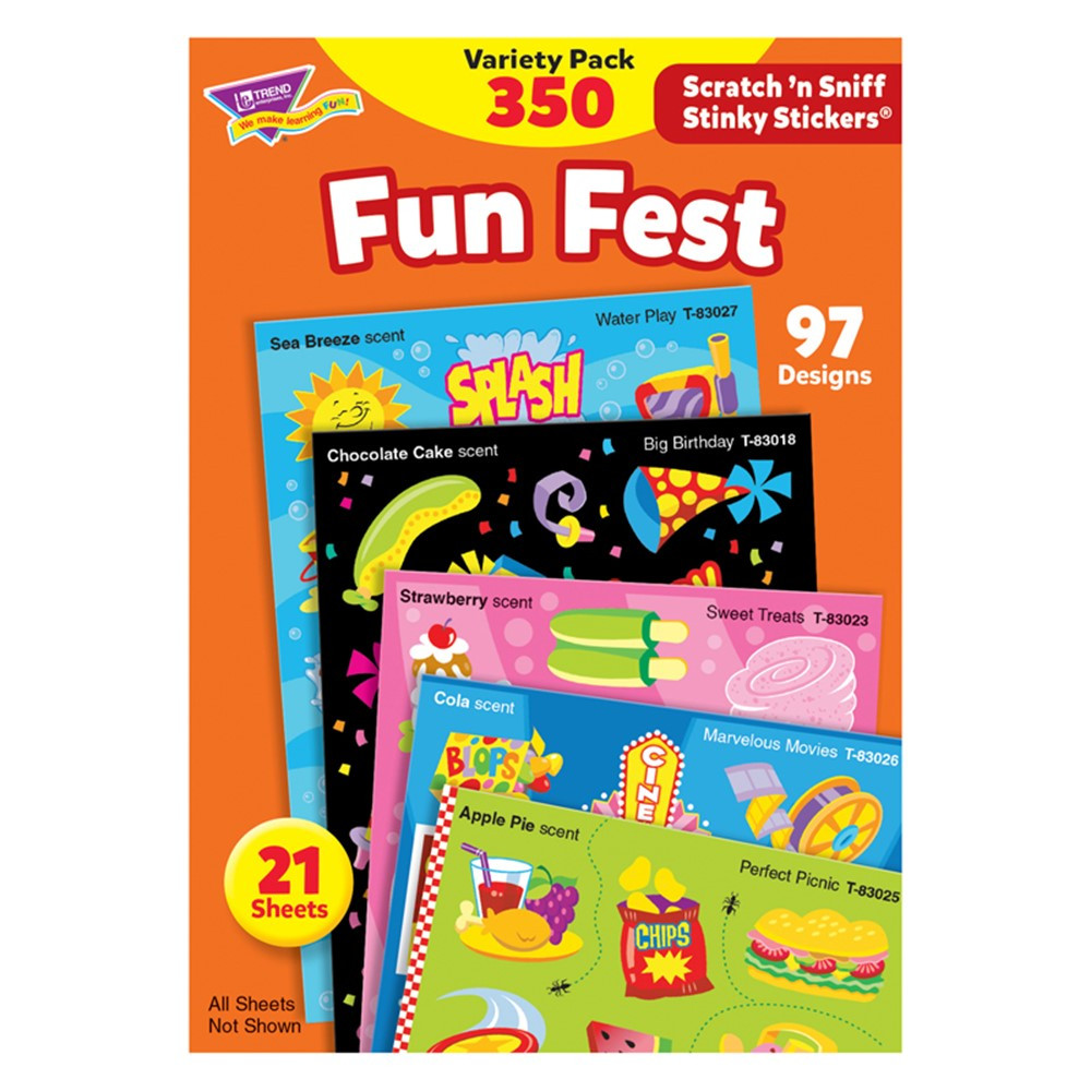 T-83906 - Stinky Stickers Mixed Shapes 350/Pk Acid-Free Variety Pk in Stickers