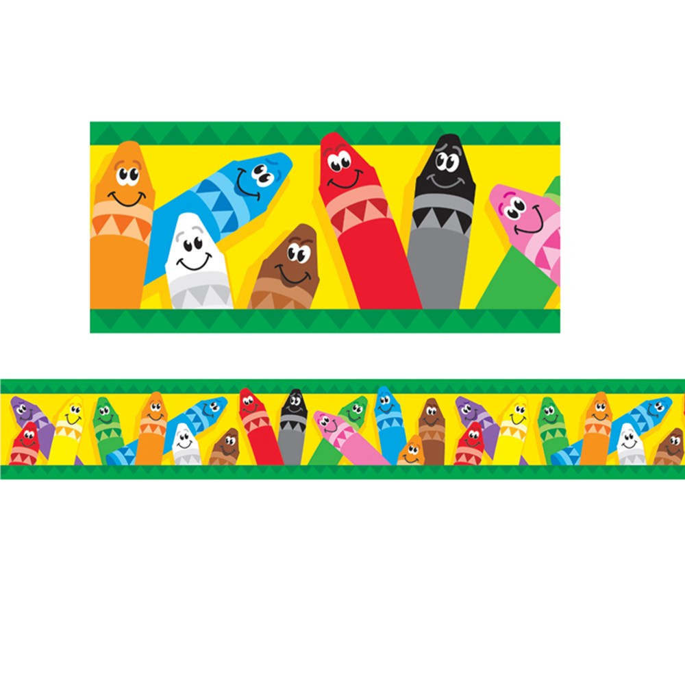 T-85041 - Bolder Border Colorful Crayons in Border/trimmer