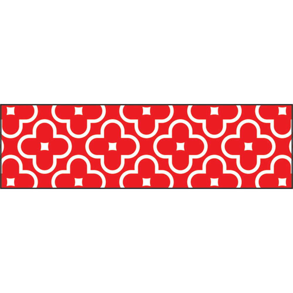 T-85195 - Floral Red Bolder Borders in Border/trimmer