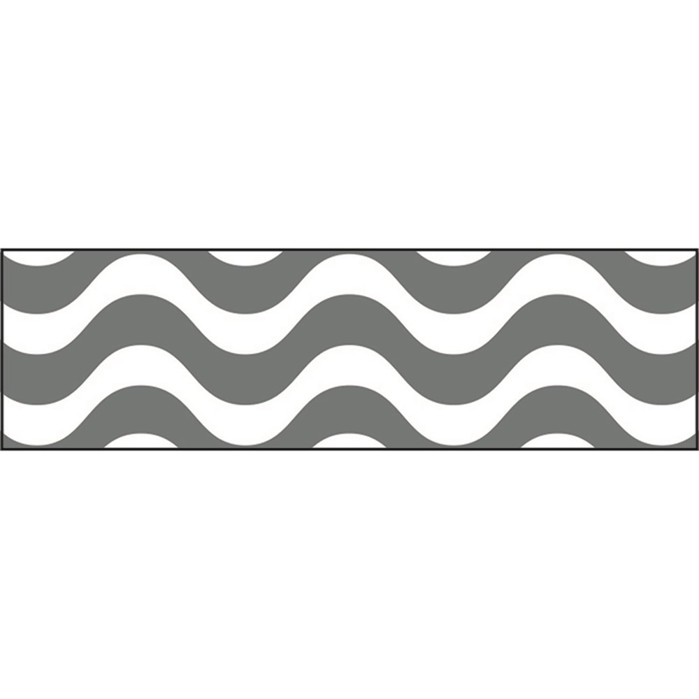T-85338 - Wavy Gray Bolder Borders in Border/trimmer