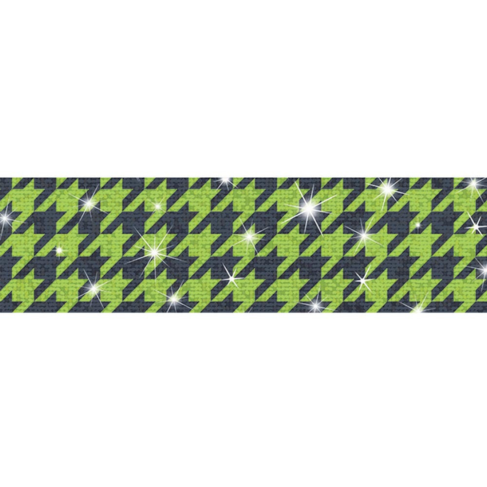 Houndstooth Green Sparkle Plus Bolder Borders Sparkle