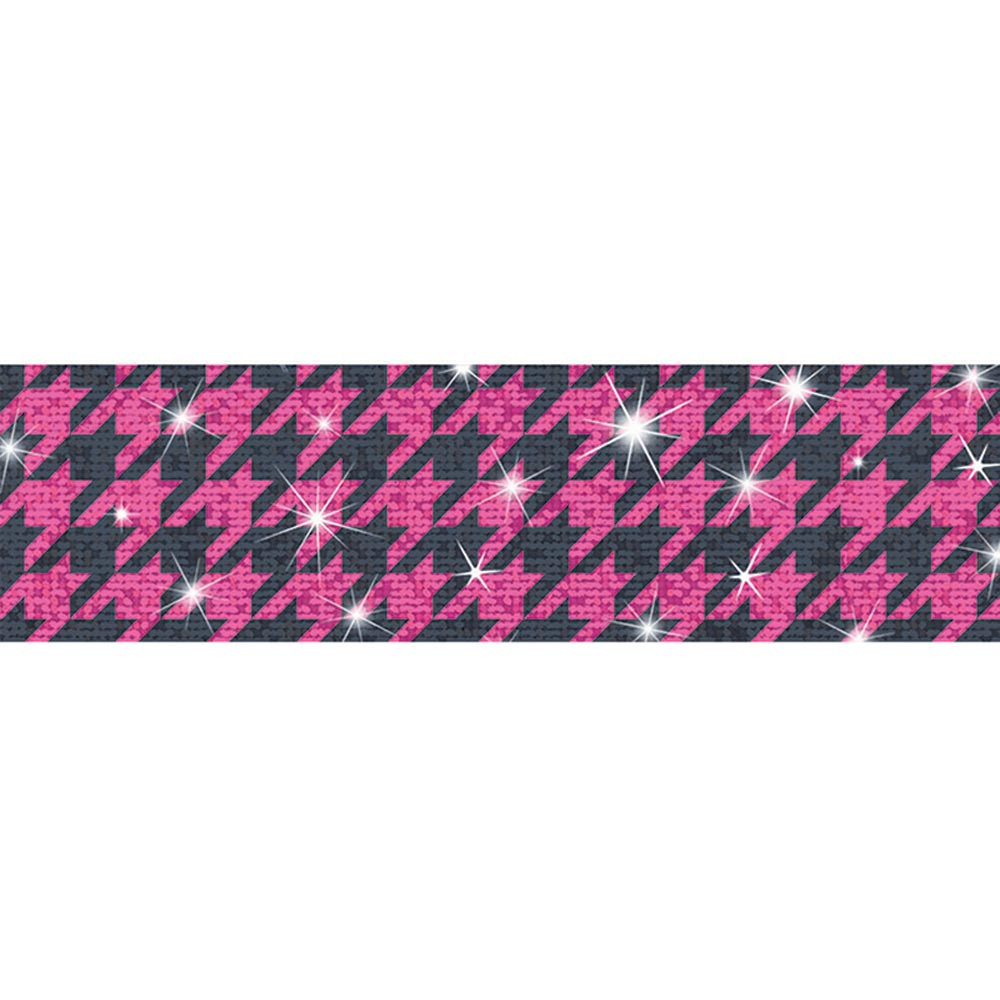 Houndstooth Pink Sparkle Plus Bolder Borders - Sparkle ...