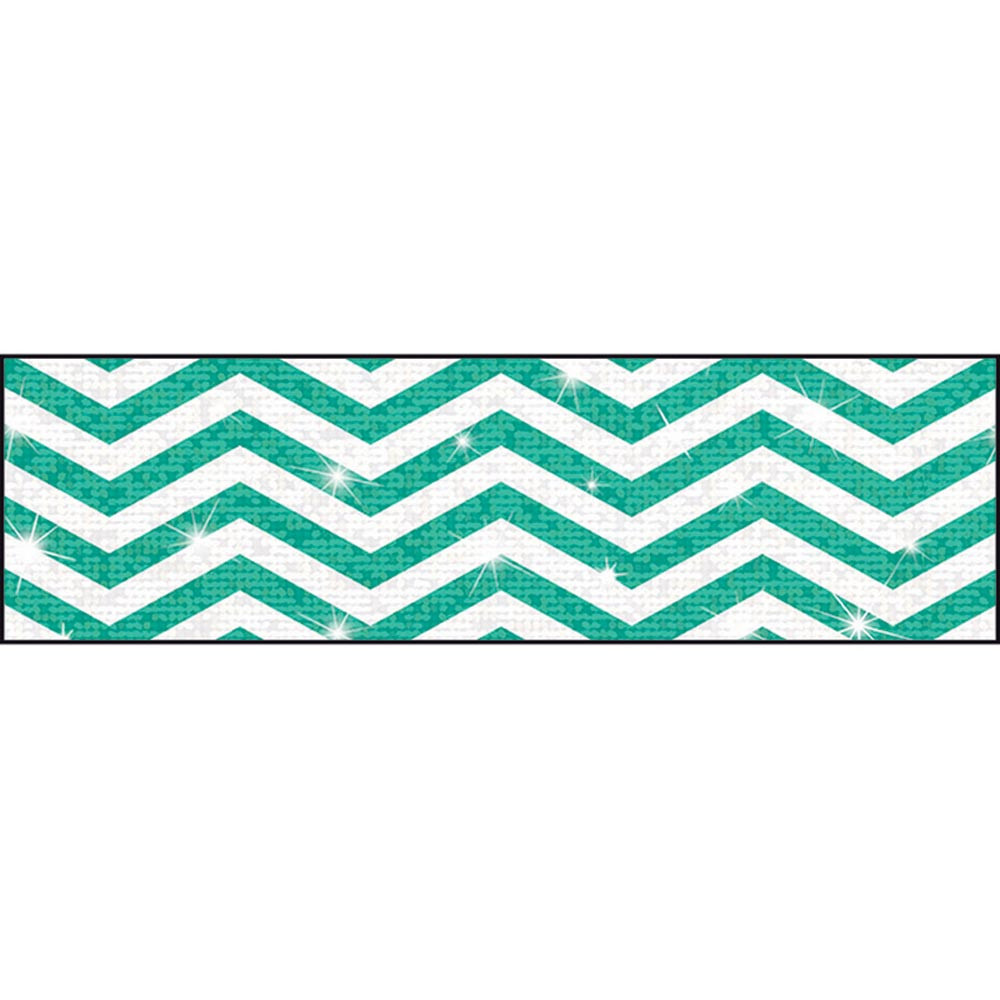 T-85438 - Looking Sharp Teal Sparkle Plus Bolder Borders in Border/trimmer