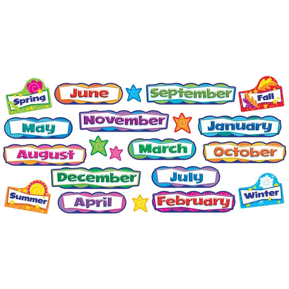 T-8705 - Monthly & Seasonal Headers Mini Bulletin Board Set in Holiday/seasonal