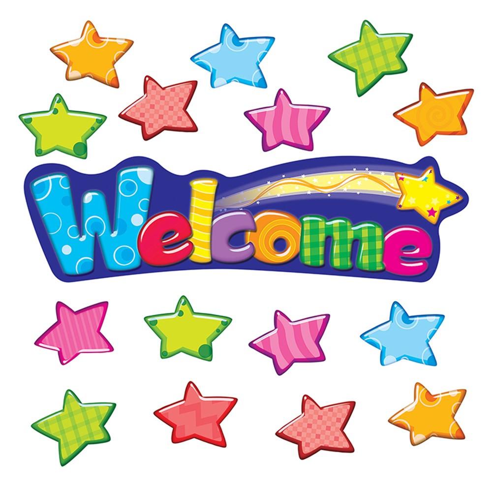 T-8710 - Welcome Stars Mini Bulletin Board Set in Classroom Theme