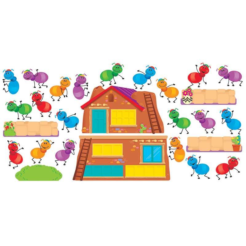 T-8713 - Busy Ants Job Chart Mini Bulletin Board Set in Classroom Theme
