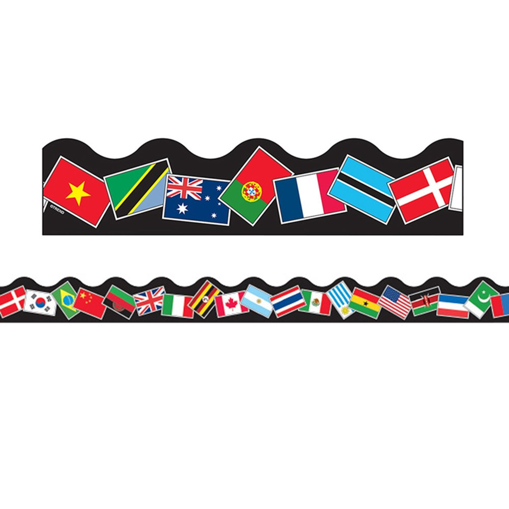 T-91352 - Trimmer World Flags in Border/trimmer