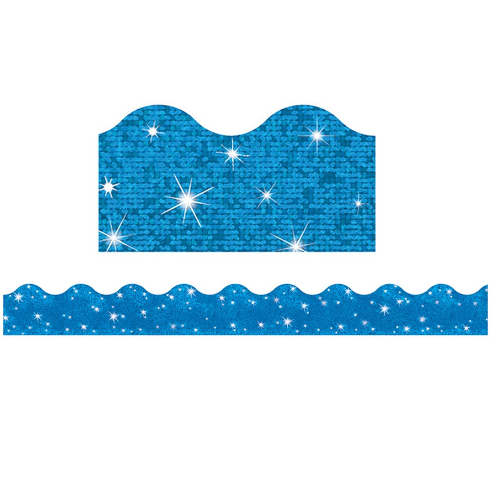 T-91413 - Trimmer Blue Sparkle in Border/trimmer