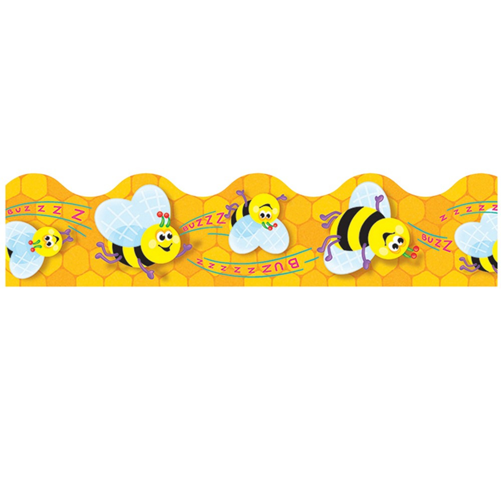 T-92047 - Trimmer Busy Bees in Border/trimmer