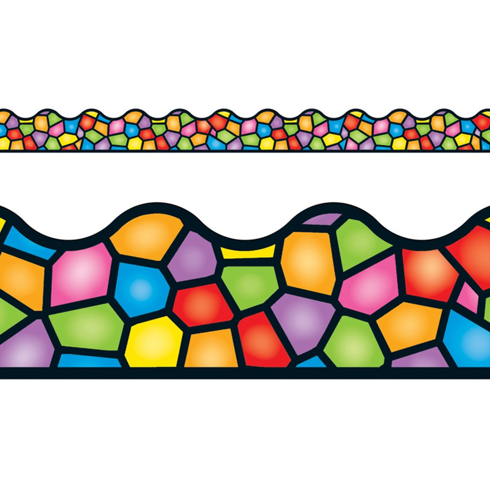 T-92136 - Stained Glass Terrific Trimmer in Border/trimmer