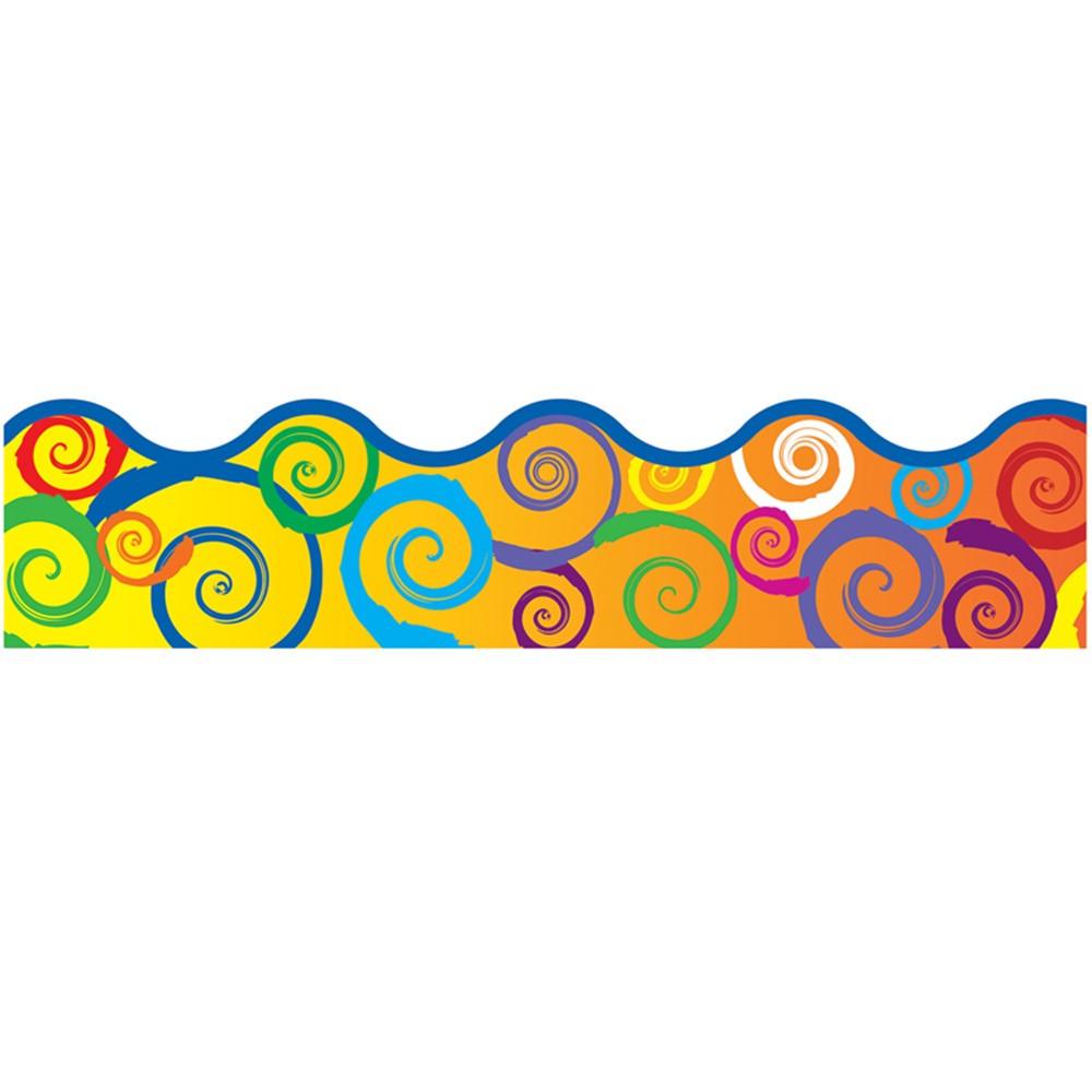 T-92141 - Rainbow Swirls Terrific Trimmer in Border/trimmer