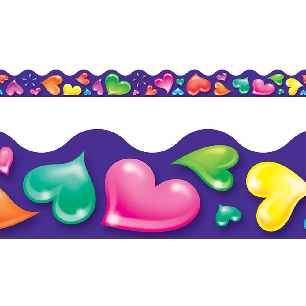 T-92312 - Terrific Trimmers Colorful Hearts in Border/trimmer