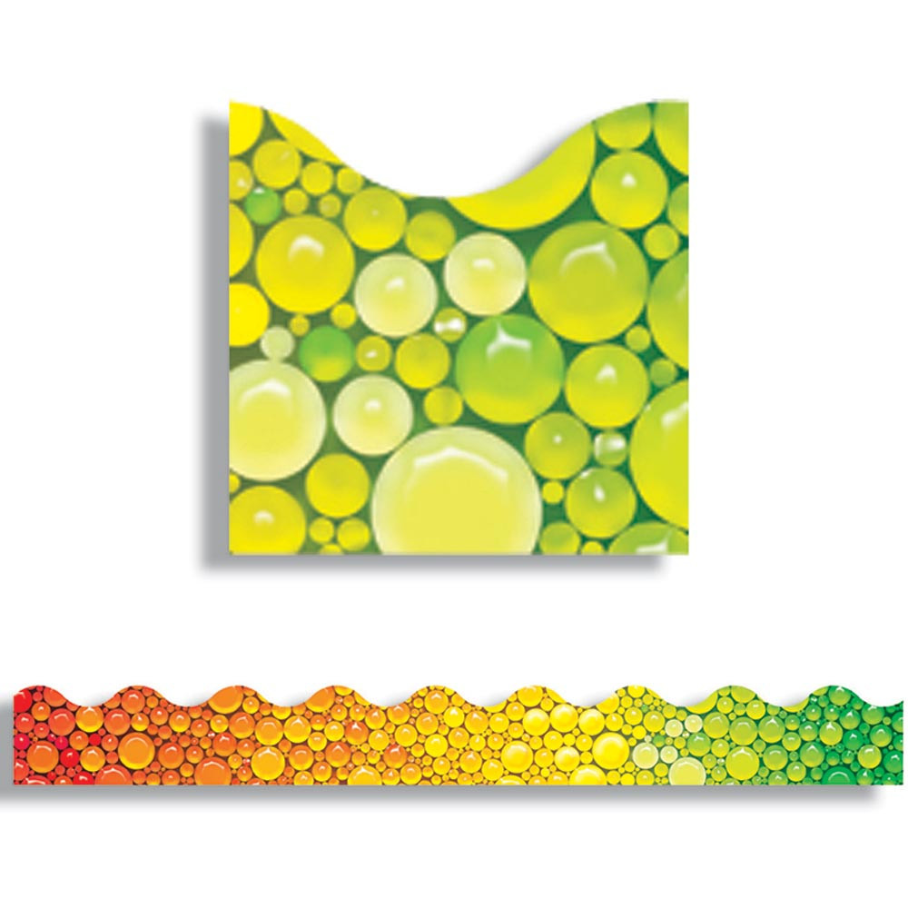 T-92335 - Rainbow Bubbles Trimmers Scalloped Edge 12/Pk 2.25 X 39 Total in Border/trimmer
