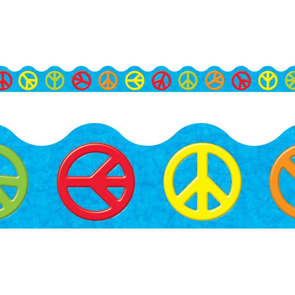 T-92356 - Peace Signs Terrific Trimmers in Border/trimmer