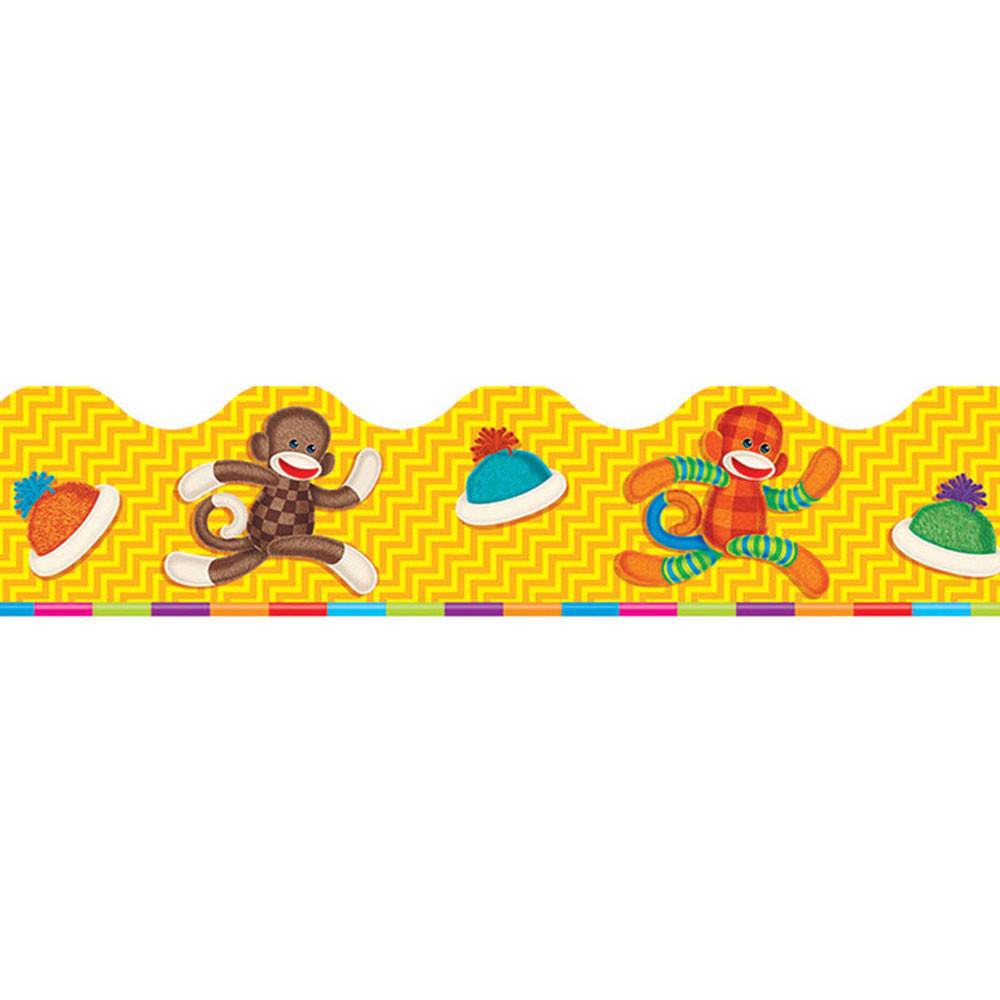 T-92655 - Sock Monkeys Terrific Trimmers in Border/trimmer