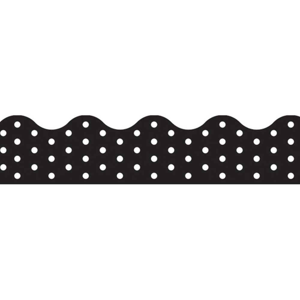 T-92671 - Polka Dots Black Terrific Trimmers in Border/trimmer