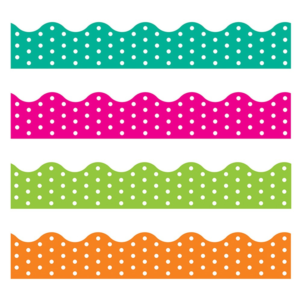 T-92932 - Polka Dots Border Variety Pack in Border/trimmer